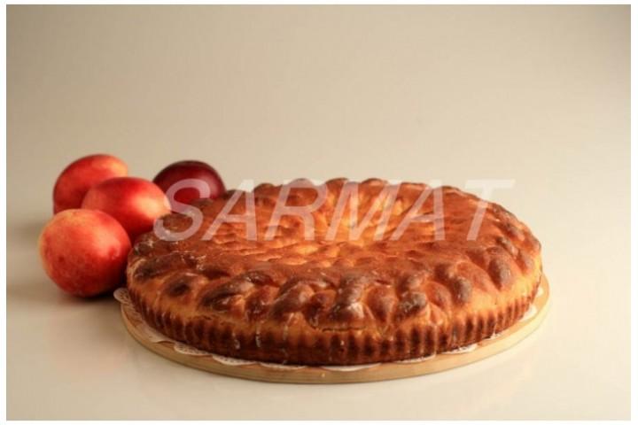 Осетинский пирог с персиками