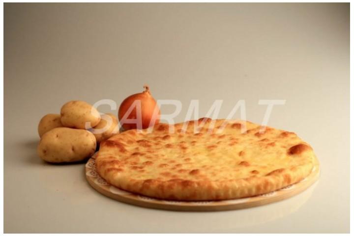 Осетинский пирог с картофелем и луком